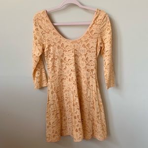 Free People peach all over lace dress #163
